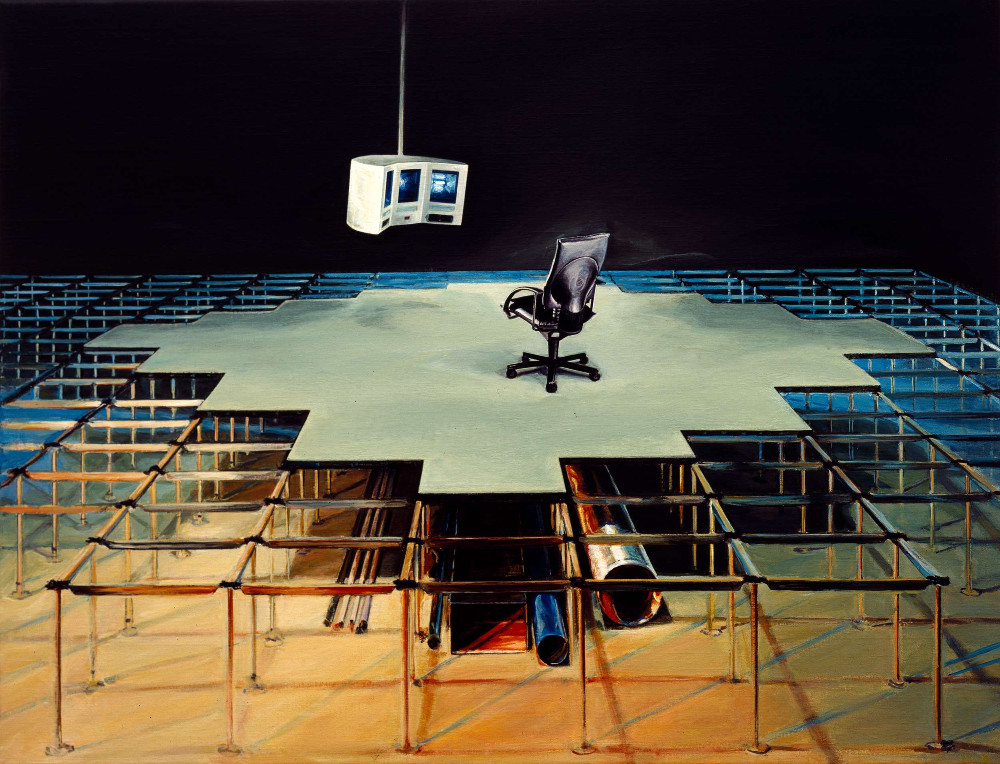 Zone, 1996, 65 x 85 cm acrylic on linen