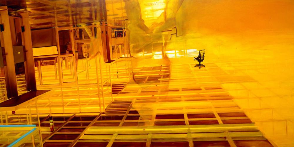Zone, 1996,  oil on linen, 125 x 250cm