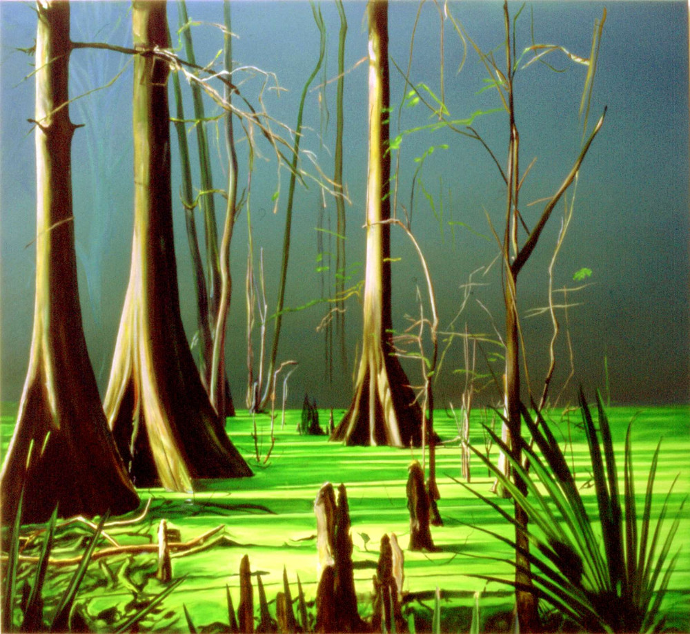 Camouflage, 2003, oil on linen,  143 x 157.5cm